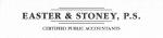 Easter & Stoney, P.S.
